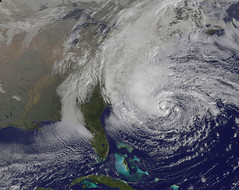 Sandy approaches - NASA pic
