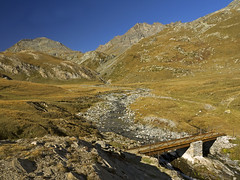 016 - the little bridge (TFRARUG) Tags: mountain lake alps cross hike aosta ibex avic dondena