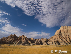 Badlands formations from road by campground (Pol/S) Tags: usa nature landscape year location sd 2012 overseas mudstone rockoutcrops