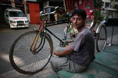 Saleem and his Rickshaw (N A Y E E M) Tags: street portrait pavement rest saleem bangladesh gec chittagong rickshawwalla