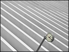 Guillemins Station 02.21 pm (Bert Kaufmann) Tags: blackandwhite clock station architecture contrast blackwhite belgium belgique time gare zwartwit belgi railway railwaystation calatrava blacknwhite luik santiagocalatrava klok architectuur lige belgien uhr wallonie lttich tijd ligeguillemins gareligeguillemins fragne luikguillemins stationluikguillemins stationligeguillemins ligeguilleminsstation