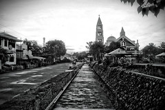 Calbayog City (androotb) Tags: bw church landscape cathedral landmark samar calbayog