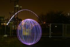 Newcastle Eye and Ball (kitinossett) Tags: lightpainting newcastle orb elementsorganizer