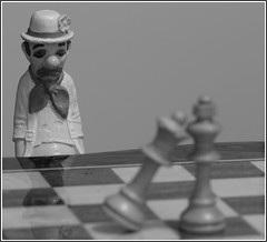 Chess. 9 (EOS) (Mega-Magpie) Tags: camera bw usa america canon court eos illinois king jester clown chess queen il the 60d
