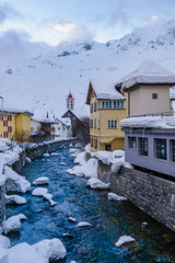 By the River (ace_dave) Tags: switzerland uri andermatt swisswinter riverreuss gotthardstrasse passodelsangottardo snowinthealps