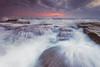 Swim (stevoarnold) Tags: blue sun seascape water clouds sunrise cloudy australia nsw southcoast illawarra wombarra rockshelf