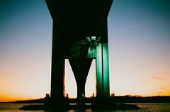 Under the Verrazano (APicca91) Tags: newyorkcity bridge sunset newyork film brooklyn minolta maxxum verrazano maxxum7000