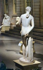 Hiram Powers (1805-1873) - California (1850-1858) back, night, Metropolitan Museum of Art, New York, Sep 2012 (ketrin1407) Tags: sculpture newyork statue female naked nude erotic marble allegory metropolitanmuseum symbolism sensuous hirampowers 19thcenturysculpture