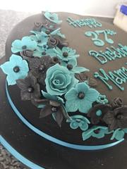Black & Teal Birthday Cake