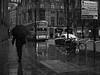 Rainy Manchester (Estefania Almarte) Tags: street inglaterra deleteme5 deleteme8 england blackandwhite bw trafficlights deleteme bus deleteme2 deleteme3 deleteme4 deleteme6 deleteme9 art cars byn blancoynegro deleteme7 beautiful rain bike umbrella manchester lluvia saveme arte artistic saveme2 deleteme10 streetphotography bicicleta bn explore rainy 86 coches autobús almaarte almaarteii
