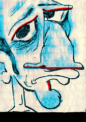 Sadness of the accent guy (Shareheads) Tags: blue red portrait bigeyes highresolution head drawings bignose sideburns sadface shareheads accentguy