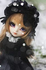 Stroll in the snow. (Rainbow Magical Orchestra ) Tags: snow cute de ooak adorable kawaii pullip elijah blois seila gosick kiky victorique