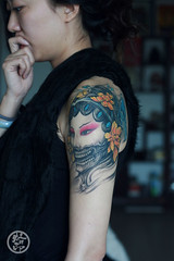 (-seal tattoo-) Tags: portrait girl tattoo skull tattoos   tattoogirl  sealtattoo