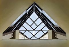 Directional Symmetry (Charles Dobbs) Tags: blue sky abstract glass up lines wall photography texas charles symmetry symmetric balance arrow perfection dobbs precise harmonious proportional cdobbs