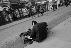 The Works (Clive Jones Photography) Tags: people urban music streets monochrome candid streetphotography documentary oxfordshire streetartists blackandwhitephotography urbanphotography oxforduk nikond300 cornmarketstreetoxford theoxonian