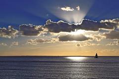 Océan (rogermarcel) Tags: ocean blue sunset sun clouds soleil bleu nuage waterscape atlantique océan bestcapturesaoi mygearandme mygearandmepremium mygearandmebronze mygearandmesilver rogermarcel