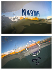 grounded (thermophle) Tags: california reflection plane airplane diptych lettering chino