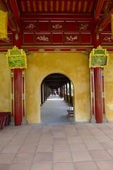 Hue, Vietnam (vtpoly) Tags: wood red history architecture vietnamese culture vietnam lanterns archway hue passageway imperialcity polywoda
