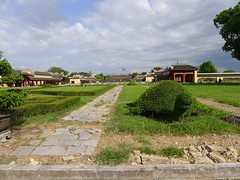 Hue, Vietnam (vtpoly) Tags: history architecture topiary vietnamese flag culture vietnam hue imperialcity polywoda