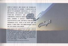 """2013 Dodge Challenger Brochure3 (*NoName*) Tags: auto car automobile dodge hemi mopar rt challenger dealership musclecar blacktop options dealer srt 392 srt8 chyrsler sxt 57l pentastar 36l 61l classic"""" 64l """"rt """"rallye """"sales brochure"""" """"2013"""