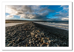 Pebble bank at Westward Ho! (Travels with a dog and a Camera :)) Tags: uk morning sea england sky southwest west art beach digital photoshop coast dc seaside pentax unitedkingdom south north january sigma pebbles andrew coastal devon ho 1020mm northam bennett seaview 43 lightroom westward northdevon westwardho andrewbennett cs6 2013 1456 k20d justpentax pentaxk20d sigma1020mm1456dc pentaxart photoshopcs6 lightroom43