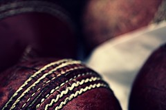 Just a load of balls. (Steve.T.) Tags: cricketball ball leatherball macro red cricket sportsequipment stitching leather balls sport used cricketballmacro wornout sigma70300 nikon d7200 texture gritty