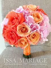 buchet-mireasa-din-hortensia-si-trandafiri-corai-si-portocalii (IssaEvents) Tags: buchet mireasa din hortensia si trandafiri cora issamariage issaevents bucuresti slatina valcea