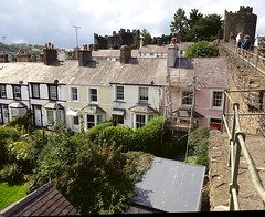View from the town wall, Conway, North Wales (Snapshooter46) Tags: townwall conway conwy wales terracedhouses