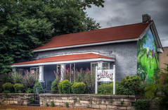 The Garden Brunch Cafe (donnieking1811) Tags: tennessee nashville restaurants cafe cafes brunches garden mural murals exteriors trees colorful porches porch flowers paintings canon 60d