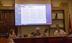 En la pantalla posterior el listado de personas designadas, segn el sorteo aleatorio (Ayuntamiento de Ermua  Ermuko Udala) Tags: pleno sorteo mesas electorales ermua bizkaia 2016 elecciones parlamentovasco