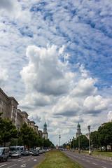 Frankfurter Tor (oliver.schmitter) Tags: berlin deutschland clouds friedrichshein frankfurter tor architektur city germany frankfurtertor fernsehturm alex