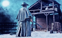Jonah Hex (RK*Pictures) Tags: neca actionfigure jonahhex joshbrolin bountyhunter antihero disfigured mark postcivilwar dccomics sciencefictionwestern confederate resurrect revengegetsugly cynical scarred americancivilwar western comicbook gunfighter revolver rifle outlaw face violence death outstandingmarksman johnalbano tonydezuniga toy cowboy personalcodeofhonor protect avenge johnmalkovich meganfox quentinturnbull tallulahblack prostitute gunwielding lilah vengeance wife son mysticalpowers revive corpse uniform barn dust sand revenge ugly winchesterrifle dirt scar brand burn hell outdoor night moon blue war
