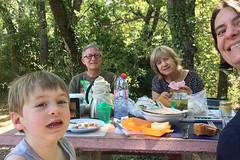 picnic (domit) Tags: picnic isaac oma opa mum dad domit break camping car trip france