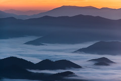 The Smokies (Longleaf.Photography) Tags: sunrise sunset smokies gsmnp mountains color fog foggy dreamy view vista scenic nc tn