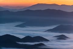 The Smokies (Longleaf.Photography) Tags: sunrise sunset smokies gsmnp mountains color fog foggy dreamy view vista scenic nc tn