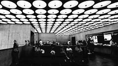 Breuer Lobby (Staufen39) Tags: light crowd uppereasrside art modernart breuerbuilding newyork marcelbreuer bauhaus museum