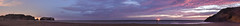rodeo cove after dusk panorama (pbo31) Tags: california nikon d810 bayarea august 2016 summer boury pbo31 color northerncalifornia panoramic large stitched panorama goldengatenationalrecreationarea marincounty northbay over view night dark beach shore pacific rodeocove sky birdrock dusk ocean purple
