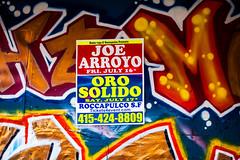 Joe Arroyo Oro Solido (Thomas Hawk) Tags: california joearroyo missiondistrict orosolido sanfrancisco usa unitedstates unitedstatesofamerica graffiti