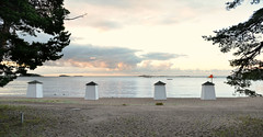 HANKO Plagen beach (pentlandpirate) Tags: hanko hango finland suomi beach huts bathing carousel plagen baltic sea