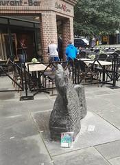 Bookcrossing release (zimort) Tags: bok book bookcrossing wildrelease gjvik norge norwegen norway pokestop art kunst skulptur
