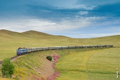 Passenger train Ulaanbaatar - Beijing... (N.Batkhurel) Tags: trains tourism trainspotting transport railway railfan locomotive 1520 2m62m ulaanbaatar beijing season summer ngc nikon nikondf