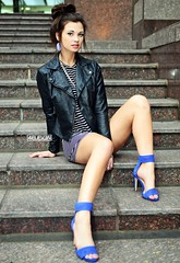 Stepping out with Taylor 7961 (4ELEVEN Images) Tags: taylor model portrait outdoor girl gorgeous female fine fit nikon photoscape outdoors city steps building glamour fashion