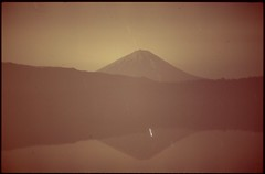 (bensn) Tags: pentax lx fa 43mm f19 limited film slide astia 100f at200 longexposure multiexposure night stars dark lake mountain reflection fuji japan yamanashi