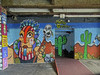 streets of worthing (maximorgana) Tags: worthing street art graffiti cactus insect bee mountain skull slope garage trashbit
