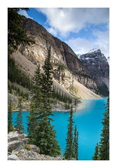 Lake Moraine (Kieran Commins) Tags: lake moraine canada mountains torquoise trees reflections light landscape bannf