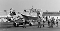 150343 Vought F-8J VF-211 NP101 (eLaReF) Tags: bw white black airplane aviation navy aeroplane naval f8 crusader miramar usn gunfighter navalaviation vought np101 f8j vf211 knkx nkx lastofthegunfighters lastgunfighter 150343