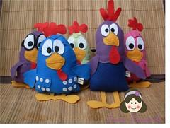 Galinha Pintadinha e sua Turma (Feltro por Lais) Tags: galinha turma feltro galo galinhas cantoras carij pintadinha