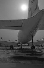Derelict (Craig's Making Pictures) Tags: winter blackandwhite bw black vintage airplane minolta aircraft aviation derelict dc4 x7a