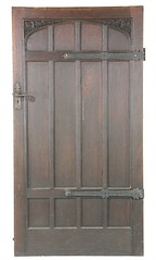 43. Antique Tudor Revival Oak Door