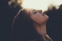 A little unclear (Kaat dg) Tags: light portrait nature girl golden bokeh 50mm14 goldenhour d5100